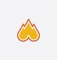 fire symbol logo icon vector image vector image