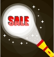 Flashlight and sale sign vector image