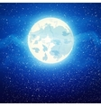 full moon close up and around the stars vector image vector image