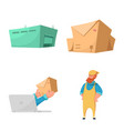 goods and cargo logo vector image