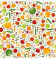 great vegetarian seamless pattern vector image