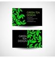 Green Tea logo template Business card desing vector image vector image
