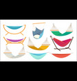 hammock relax time in outdoor decorative colorful vector image vector image