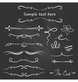 hand drawn flourishes accent text chalk set vector image