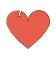 isolated heart design vector image vector image
