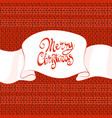 knitted cristmas background vector image vector image