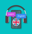 learn english or foreign language online on mobile vector image vector image