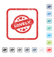 Lovely stamp seal icon rubber watermark vector image