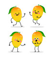 mango cute fruit character set vector image vector image