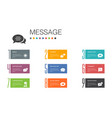 message infographic 10 option line conceptemoji vector image