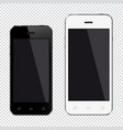 mobile smartphone big and small display screen vector image vector image