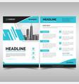 modern business brochure template vector image