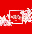 modern creative background merry christmas and vector image