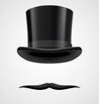 moustaches and stovepipe hat victorian gentleman vector image vector image