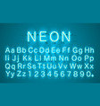neon city color lime blue font english alphabet vector image vector image