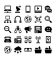 network and communication icons 12 vector image vector image