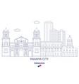 panama city skyline vector image vector image
