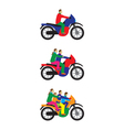 People family on a motorbike vector image vector image