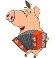 pig-musician cartoon