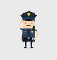 police officer funny cop cartoon character vector image