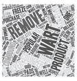 Popular Over the Counter Wart Removers text vector image vector image