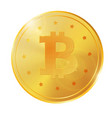 realistic 3d golden bitcoin coin for fintech net vector image