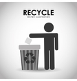 recycle icon design vector image