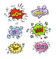 retro comic speech bubbles set with colorful vector image vector image