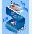 sea food production infographics vector image