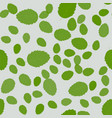 seamless pattern with leaves of mint floral print vector image vector image