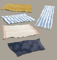 set beach litter collection bedding for vector image