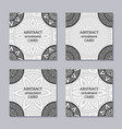 set of 4 creative covers vector image vector image