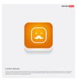 smiley icon face icon orange abstract web button vector image