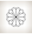 Snowflake Happy New Year vector image