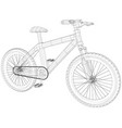 sport road bike bicycle created of vector image