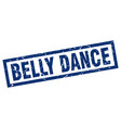 square grunge blue belly dance stamp vector image vector image