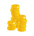 stack gold rubles isolated cartoon vector image vector image