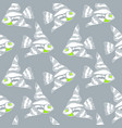 stitch style blue sea life seamless pattern vector image vector image