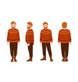stout bearded redhead man in woolen jumper fat vector image vector image