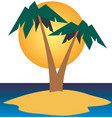 summer and beach travel vector image vector image
