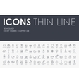 technology Thin Line Icons vector image