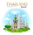 thai giant with arun temple in bangkok thailand vector image