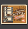 traditional brewery craft beer fest vector image vector image