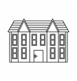 Two storey house icon outline style vector image vector image