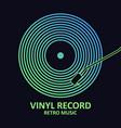 vinyl logo vector image vector image