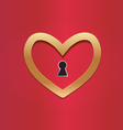 Key to my heart for love and valentines concept vector image