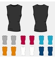 Set of colored sleeveless shirts templates for men vector image