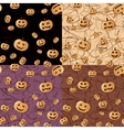 Seamless Halloween pattern background vector image