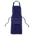 Blue striped apron vector image vector image