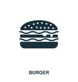 burger icon mobile apps printing and more usage vector image vector image